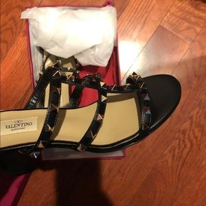 Black Stud Valentino Shoes with original box!